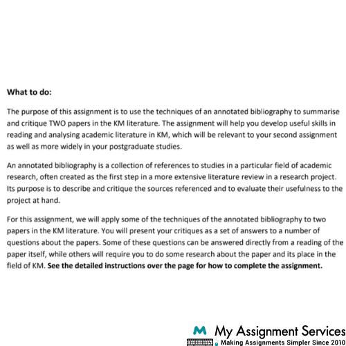 bibliography assignment help USA