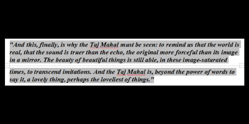 Taj Mahal by Salman Rushdie