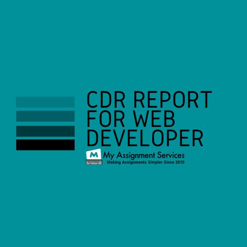 CDR Report for Web Developer