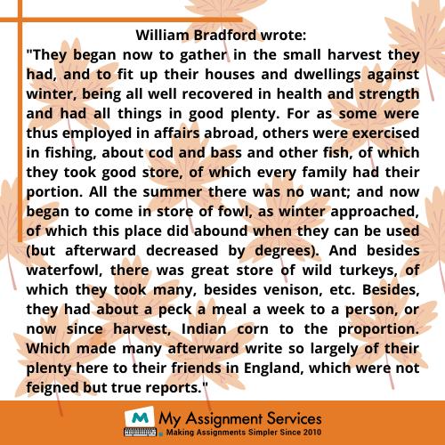 william bradford wrote