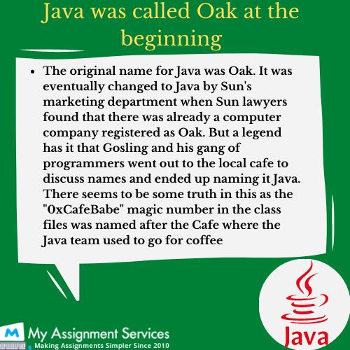 Java Historical Name