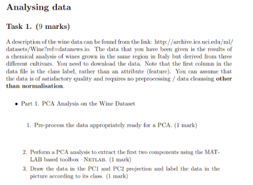 Matlab assignment sample