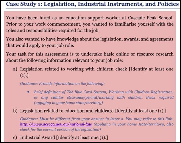 case study legislation