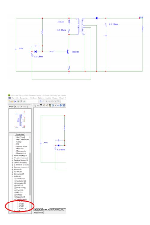 design of self oscillating flyback convertor 2