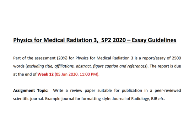 physics in medical radiation 3