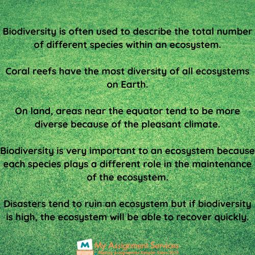 biodiversity homework help