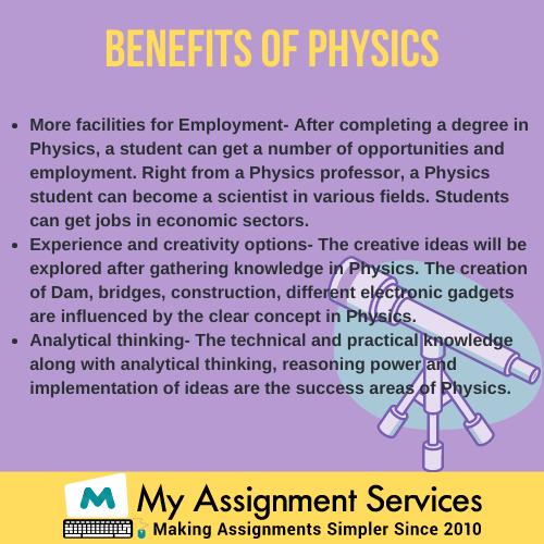 Benefits of physics
