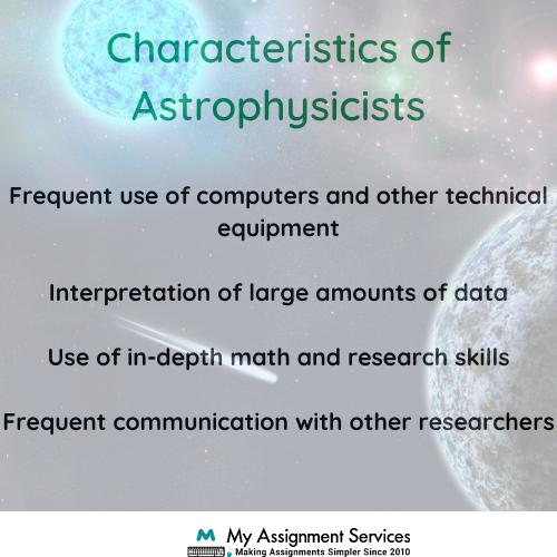 characteristics of astrophysics