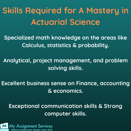 Actuarial Science homework Help