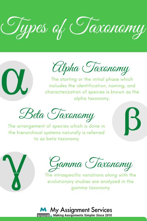 Taxonomy Homework Help