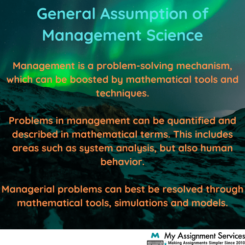 Management Science Homework Academic Help