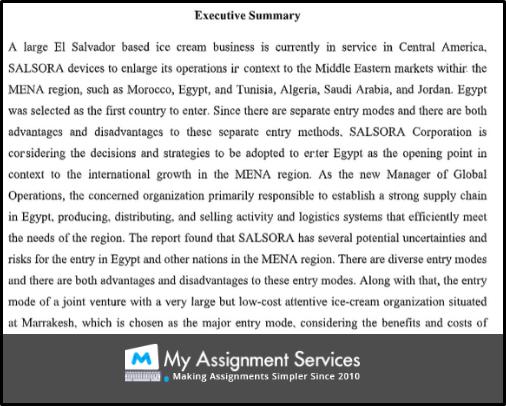 AMB303 executive summary