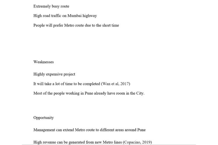 Macquarie University Assignment SWOT