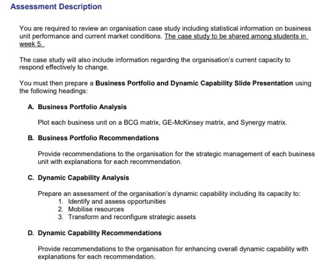 Business Analysis Portfolio