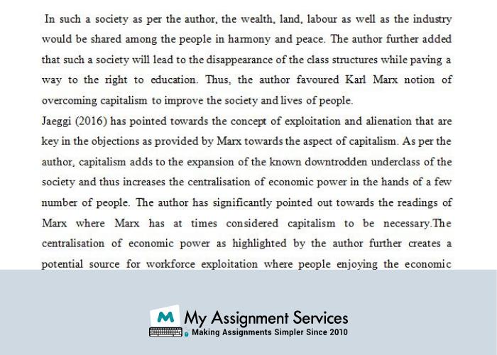 Karl Marx notion of overcoming capitalism