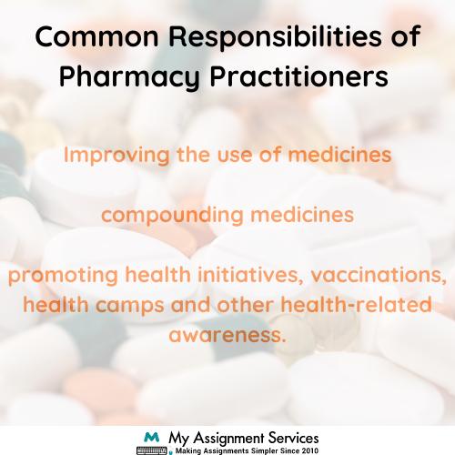 common responsibility of pharmacy practitioner