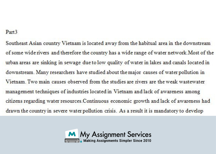 Water Pollution Chemistry Assignment Service