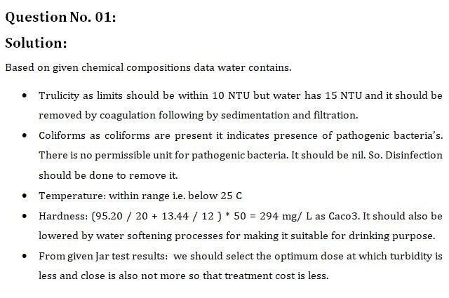 Waste and wastewater treatment fundamentals assignment