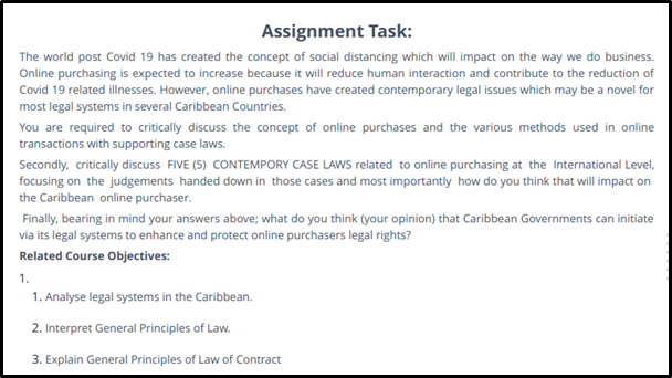 business law assignment task