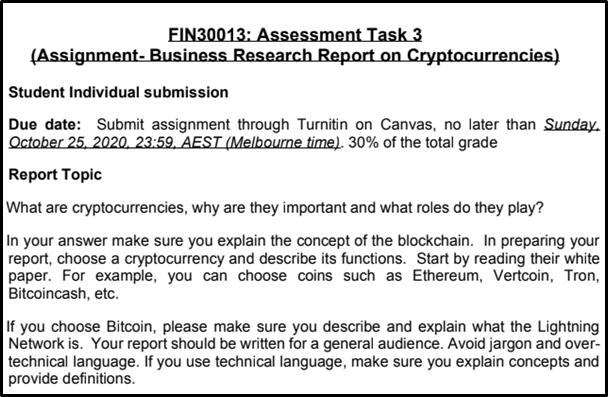 FIN30013 assessment task