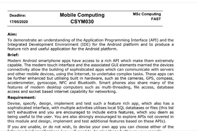mobile device software development