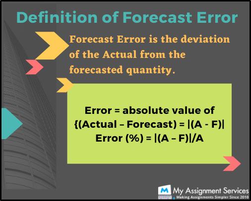 definition of forecast error