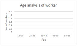 graph shows age analysis of workers