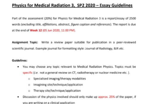 medical physics Homework Help