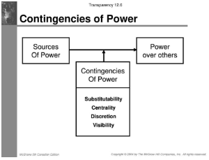 flow chart shows Contingencies of Power