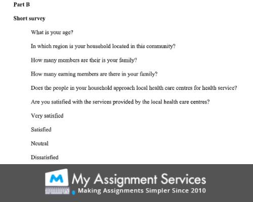 Short Survey - Statistics Assignment Help