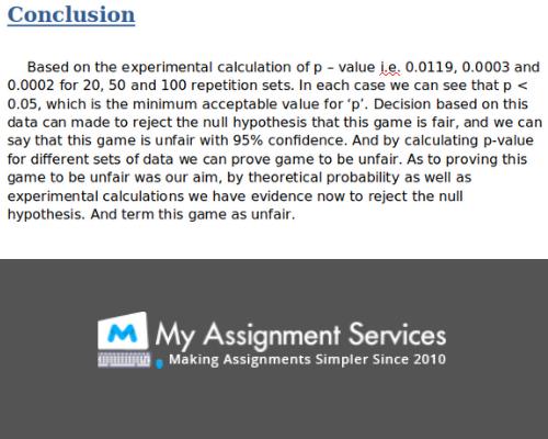 HSC1201 Assignment Conclusion
