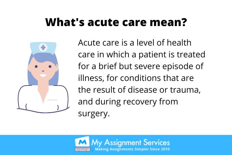 Acute Nursing assignment help