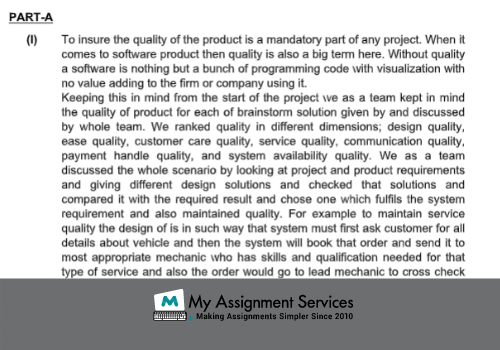 Object Oriented System Analysis Assignment Sample
