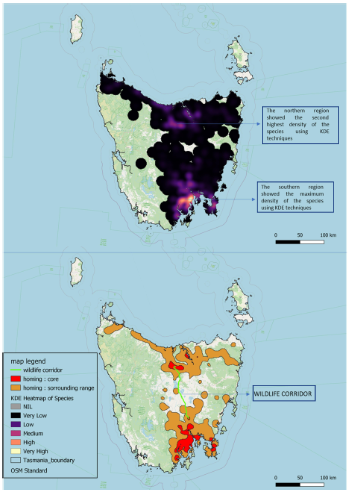 Kernel Density Estimation and Wildlife corridor