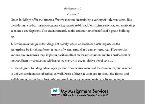 Environmental Sustainability Academic Writing Service