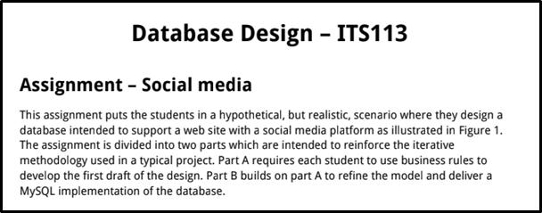 ITS113 Database Designing