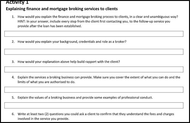 finance assignment question