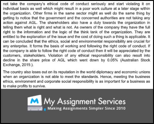 business ethics assessment 4
