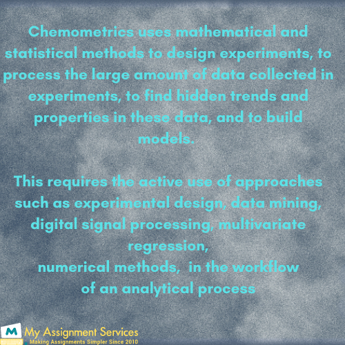 Application of Chemometrics