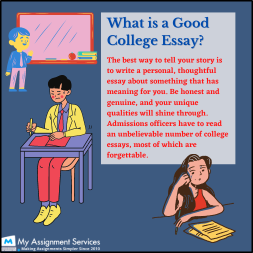 what is good college essay