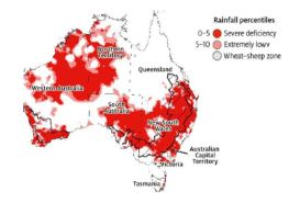 Lack of Rainfall in Australia between periods 1 March 2018 to 31 August 2019