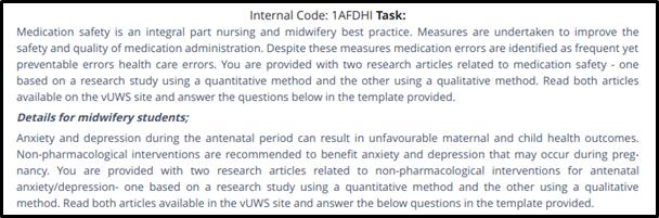 nursing and midwifery 401208 task1