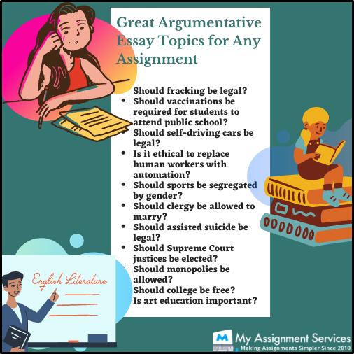 Argumentative Essay topics