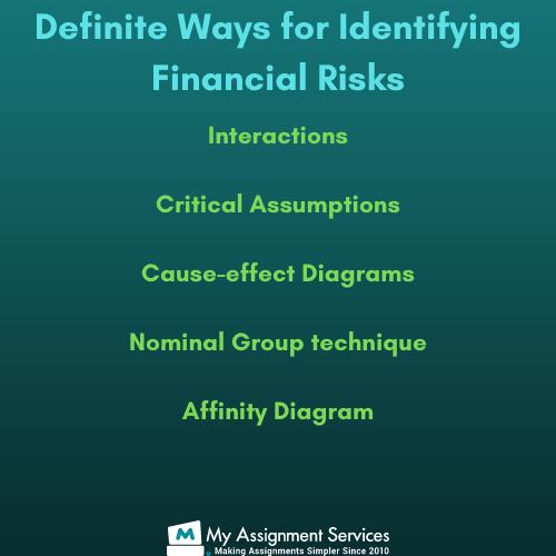 financial risk assignment Australia