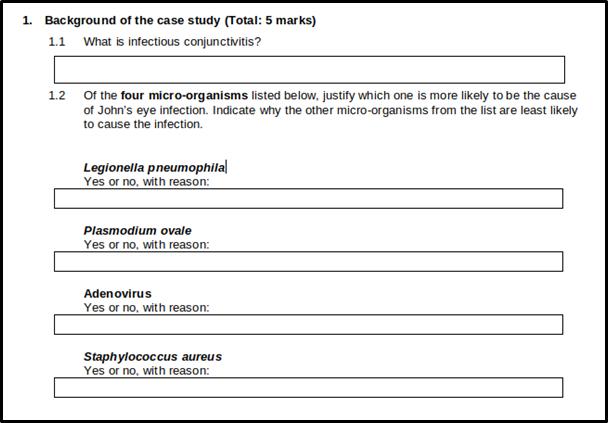 Professional nursing case study