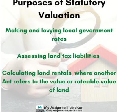 Purposes of Statutory Valuation