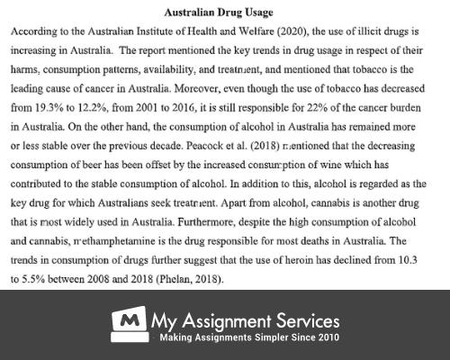 Drugs on line 400961 Assessment Sample