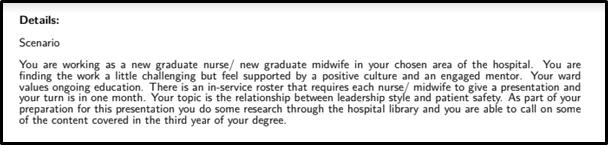 Clinical Leadership detail