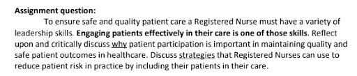 HNN320 Leadership And Clinical Governance Assessment