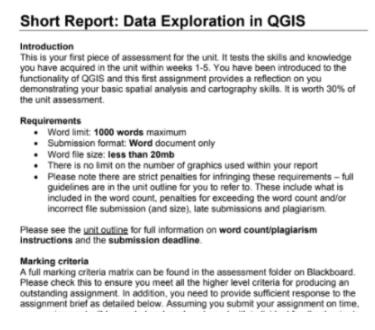 Short Report Data Exploration in QGIS